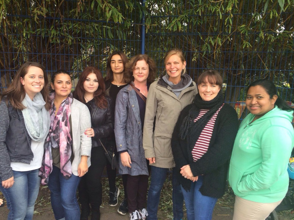 The FoMS team, from left to right: Morgan, Giuliana, Helen, Meryem, Morwenna, Carolyn, Pri