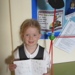 Lily made a wonderful dog called 'Fluffy' and wrote a story about him. Well done Lily!