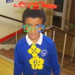 Christoforo has been really creative and designed a hat, glasses, a beard and a tie! Fantastic!